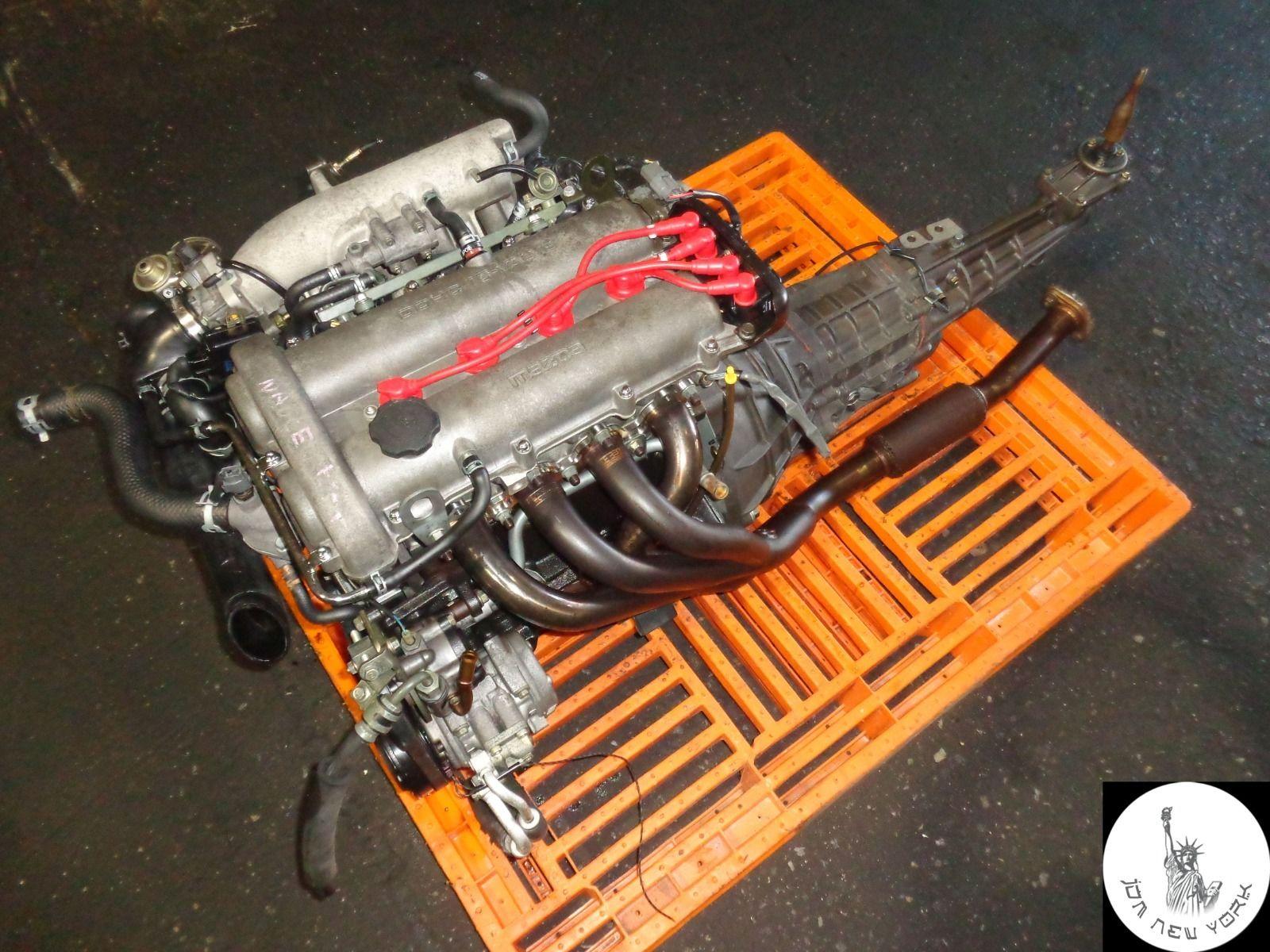 mazda mx 5 miata dohc 1 6l dohc engine 6 speed manual rwd transmission jdm b6 jdm new york